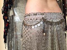Vintage elegance fusion style costume belt by SashBalogh on Etsy, $310.00