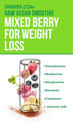 This smoothie is the perfect low-calorie breakfast or post-workout snack. Low Calorie Smoothies, Weight Loss Smoothies, Mixed Berry Smoothie, Low Calorie Breakfast, Post Workout Snacks, Best Teeth Whitening, Cinnamon Powder, In Season Produce, Self Improvement Tips