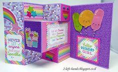 TRI SHUTTER CARD  Two Left Hands: TRI SHUTTER CARD - כרטיס חד קרן Unicorn tri shutter card Doodlebug - fairy tales