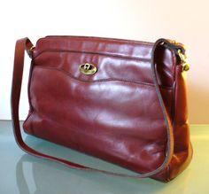 Vintage Etienne Aigner Oxblood Shoulder Bag Purse by TheOldBagOnline on Etsy
