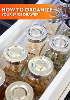Learn the ultimate way to organize your kitchen's spice drawer with these simple suggestions. The ease of this system will make you fall even more in love with cooking and baking your favorite recipes.