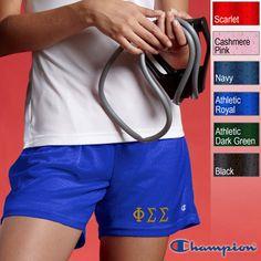 Champion Phi Sigma Sigma Mesh Shorts   SomethingGreek.com