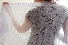 Lilaceous shawl: Knitty Winter 2012 pattern for a beautiful knitted shawl, so lacy and light, wonderful Knitted Shawls, Crochet Shawl, Knit Crochet, Lace Shawls, Knit Lace, Shawl Patterns, Knitting Patterns, Crochet Patterns, Knitting Projects