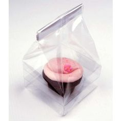 "4"" x 4"" x 7"" Single Cupcake Bag Set (100 pack) [CBG1]"