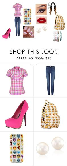 """""""Sem título #55"""" by dudinha06 on Polyvore featuring moda, Columbia, Frame Denim, Qupid e Wet Seal"""