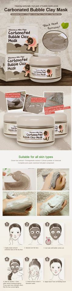 Elizavecca carbonated bubble clay mask how to use it.