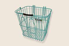 Basil Bottle Basket Turquoise LRG