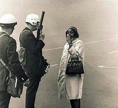 Black women have always been on the front lines of the fight for civil rights, exhibiting strength and grace under pressure. Here are 5 iconic images of black women staring down violence when confr…