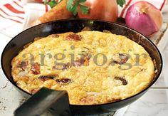 Ομελέτα φούρνου με πατάτες και λουκάνικο Cornbread, Quiche, Macaroni And Cheese, Recipies, Eggs, Cooking, Breakfast, Ethnic Recipes, Desserts