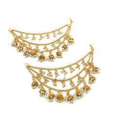 Jhumki Earrings, Indian Earrings, Dangle Earrings, Ear Chain, Indian Jewelry Sets, Asian Bridal, Bangle Set, Bridal Sets, Bridal Jewelry