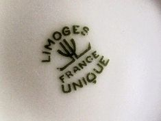 """The """"Limoges Unique"""" mark was created in 1929 by the union of the Limoges   porcelain manufacturers as a label to certify genuine Limoge..."""