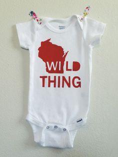 Lula Ball 'Wild Thing' onesie, $13 (Made in Madison, Wisconsin) #madeinusa #madeinamerica