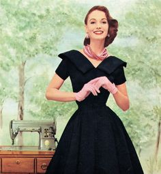 This may just be the perfect black dress! (pattern piece pictures included)