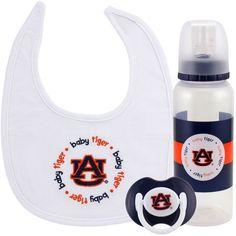 Auburn Tigers Infant 3-Piece Bottle, Bib & Pacifier Gift Set - $24.99