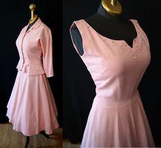 1950's Jonathan Logan pale pink dress