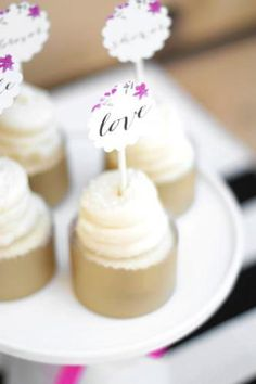 Floral Garden Bridal Shower matching cupcake toppers