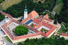 AERIAL VIEW OF THE ABBEY Heiligenkreuz abbey (Austria)