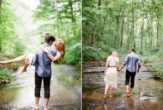 Simple, barefoot, and freaking adorable engagement shoot - Lindsay & Ben | Rainy Nashville Engagement Session | Snippet & Ink