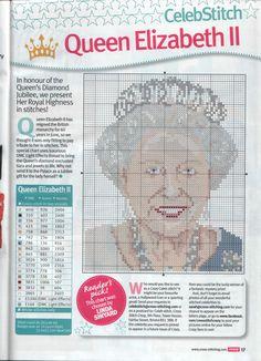Queen Elizabethe II From Cross Stitch Crazy N°164 June 2012