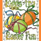 Eggs-tra Easter Fun {9 Math & Literacy Centers}  82 pages    This Easter theme pack is full of learning activities with an Easter/Springtime theme.  ...