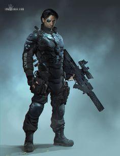 Cyberpunk Cop - SWAT by ianllanas
