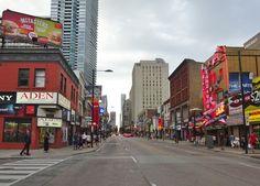 Corner of Yonge & Elm Streets, Downtown Toronto 2016 Toronto Street, Downtown Toronto, Elm Street, Street View, Corner