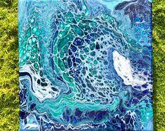 Fluid Acrylic Painting: Mini Emerald Tide 3