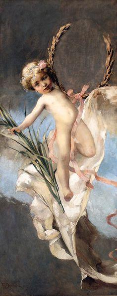 "Franz Dvorak (Austrian, 1862-1927), ""The Guardian Angel"" by sofi01, via Flickr"