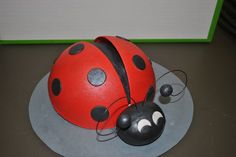 Love this ladybug for the top of the cake!