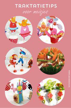 Kindertraktaties voor meisjes - gratis printvellen en leuke traktaties, treats, girls, free printable, download, birthday treat, partytreat, kids