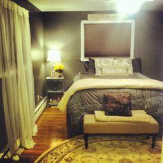 Grey and Yellow Bedroom #homegoodshappy