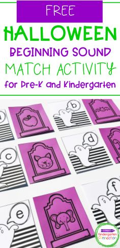 This Halloween Beginning Sounds Activity is the perfect way to work on identifying beginning sounds. Before the activity, I love to build up the excitement to help engage my little learners. This activity works well for small groups to play on a large flat surface - it's best to choose a nice open area on the floor of your Pre-K or Kindergarten classroom. Short Vowel Activities, Word Family Activities, Motor Skills Activities, Letter Activities, Phonics Activities, Literacy Skills, Kindergarten Literacy, Literacy Centers, Fun Halloween Activities