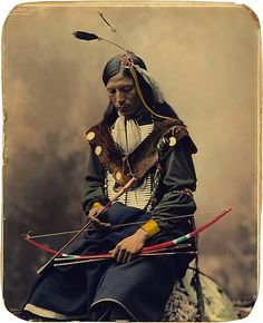 Native American with bow & arrow
