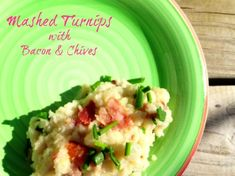 Mashed Turnips with Bacon & Chives #CSA #Turnips #recipes