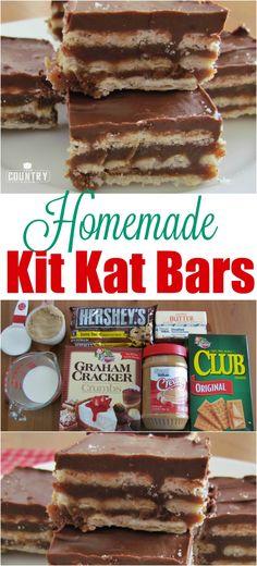 Homemade Kit Kat Bar