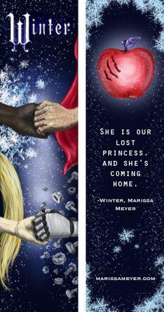 My design for Marissa Meyer's Lunar Chronicles Bookmark contest