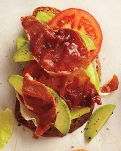 prosciutto, lettuce, and tomato