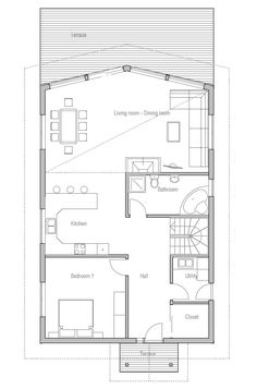 Two Bedroom Small House Plan With Open Planning Covered