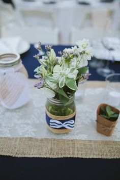 Rustic & Whimsical Mason Jar Centerpiece | Wild Whim Photography