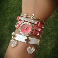 Too cool!!!!  I love the coral! And the sparkly cross is so epic. The love bracelet is so cute and dainty too!