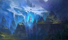 glacier valley by ~dimarinski on deviantART