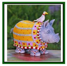"Krinkles ""Ralph Rhino Ornament""  by Patience Brewster - NIB"
