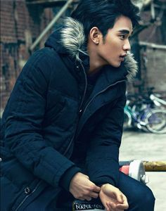 Kim Soo Hyun In Calvin Klein Jeans : Dazed & Confused : Nov 2013 Korean Wave, Korean Star, Korean Men, Asian Actors, Korean Actors, Hyun Soo, My Love From Another Star, Def Not, Kdrama Actors