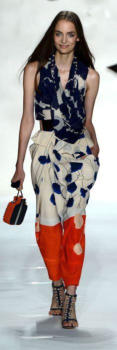 Red, White and Blue and Super Cool…k..Diane Von Furstenberg SS 2013