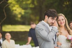 Love this! The groom wiping away his tears at the sight of his beautiful bride. Photo by @wfphotos