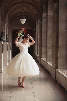 short wedding dress like me!