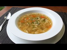 One-Step Chicken Soup - Dump and Simmer Chicken Noodle Soup for Lazy Sick People - YouTube