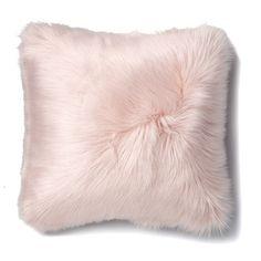 Alpine Fur Dusty Pink Cushion