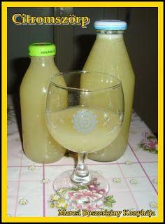 Hozzávalók:    citrom  cukor (literenként 60-80 dkg, de lehet 1:1-ben is készíteni, ízlés szerint)  Haas Szörptartósító arányosan... Cocktail Drinks, Cocktails, Elderflower, Hurricane Glass, Drinking Tea, Cooking Recipes, Ice Cream, Smoothie, Canning