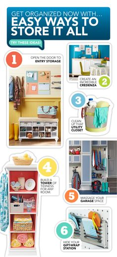 Start the new year right by getting your home organized. Here are 6 easy solutions to get started.